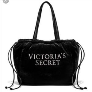 🆕 Victoria Secret black luxe velvet tote